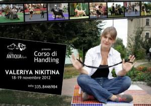 Валерия Никитина - на семинаре по хендлингу для кане-корсо, Италия